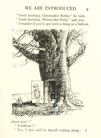 MILNE (A.A.) WINNE-THE-POOH, NUMBER 3 OF 350 LARGE PAPER COPIES, 1926