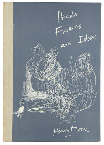 Henry Moore O.M., C.H. (British, 1898-1986) Heads, Figures and Ideas The book, 1958, with title, text and 58 fascsimile plates, minus the original lithograph, on Chariot offset cartridge paper, printed by Curwen Press, published by George Rainbird Limited, London and the New York Graphic Society, Connecticut, 475 x 333mm (18 3/4 x 13 1/8in)(Vol)