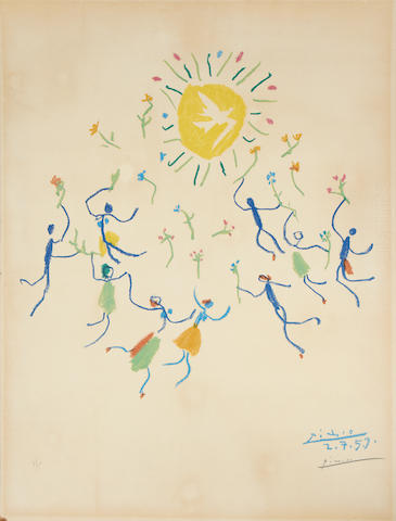Pablo Picasso (Spanish, 1881-1973) Ronde au Soleil Lithograph, 1959, printed in colours, on Arches, signed and numbered 80/200 in pencil, 645 x 495mm (25 3/8 x 19 1/2in)(SH) unframed