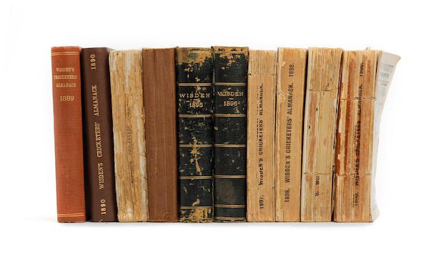 A collection of Wisdens cricket almanacks 1864 to 2009