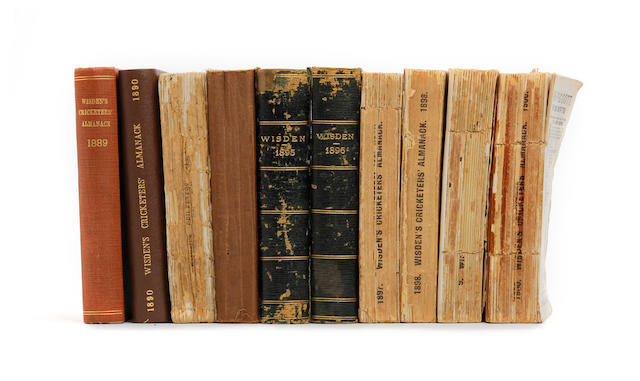 A collection of Wisdens cricket almanacks 1864 to 2009