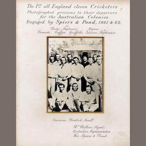 An 1862 photograph of the first England cricket touring team to visit Australia