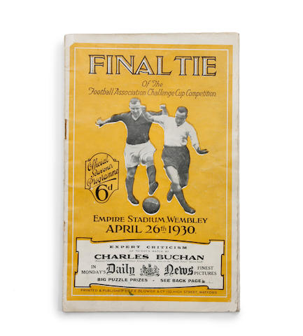 1930 F.A. Cup final programme