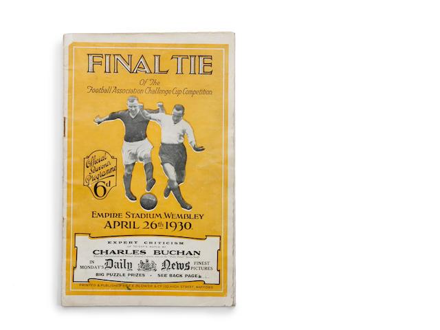 1930 F.A. cup final programme