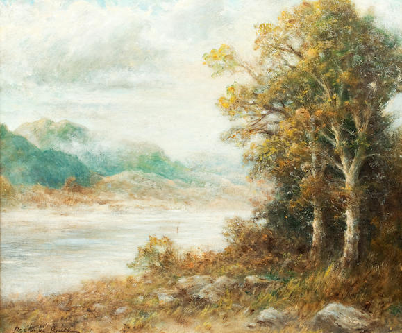 James Christie Bruce, (20th century) The lake side
