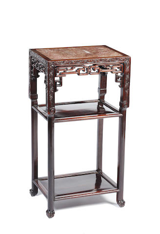 A Chinese hardwood occasional table,
