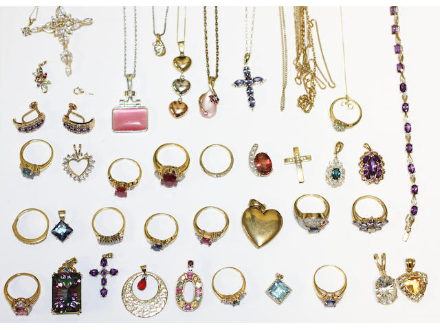A collection of modern jewellery,