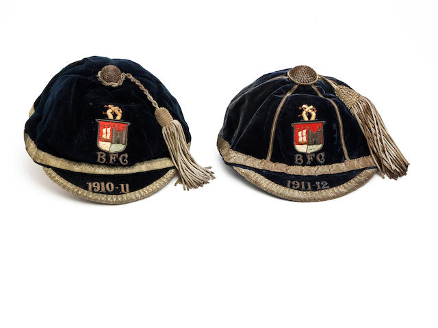 Bristol Rugby Club caps 1910-11 and 1911-12