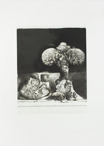 Graham Sutherland O.M. (British, 1903-1980) A Collection Three lithographs and two etchings, 1971-1974, each on wove, 'Three-headed rock', lithograph, 1972, 'Picton', etching, 1973, 'Portrait of Aloys Senefelder', lithograph, 1971, 'Field of rocks, with a candle', etching and aquatint, 1974, and 'Untitled', lithograph, each initialled in pencil, proofs, 708 x 500mm (28 x 19 1/2in)(and smaller)(SH)    5 unframed