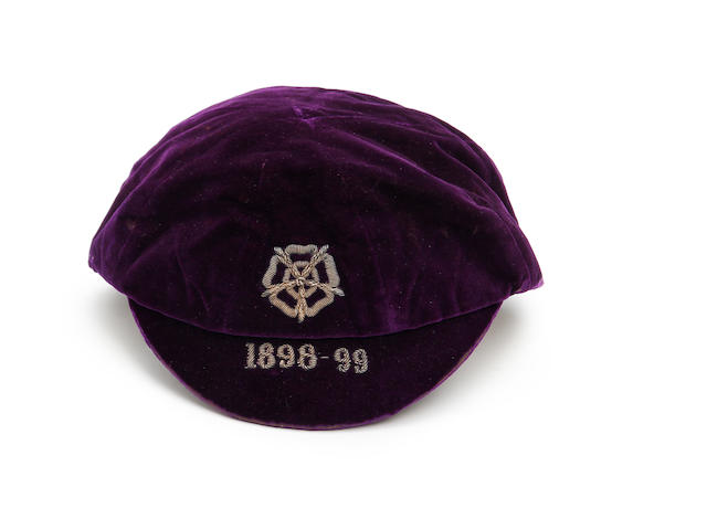 1898/99 England International cap awarded to Charlie Athersmith