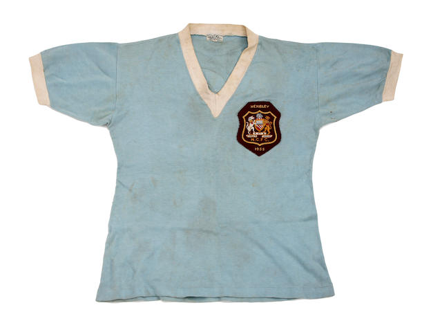 1955 F.A. Cup final Manchester City Bobby Johnstone match worn shirt