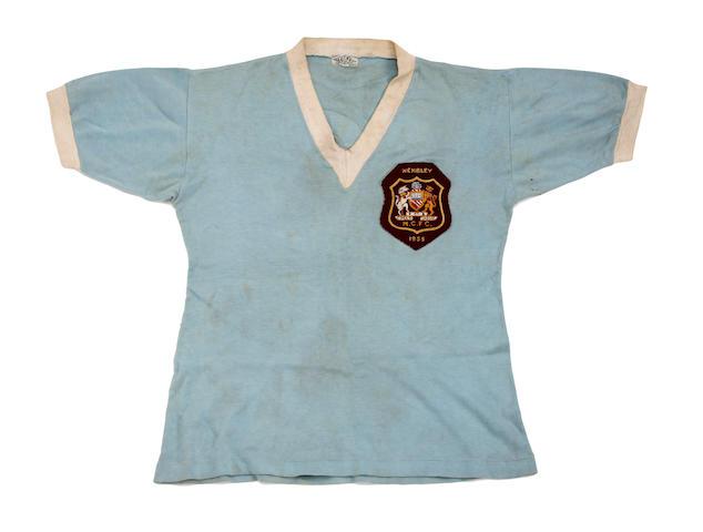 1955 F.A. Cup final Manchester City Bobby Johnstone match worn shirt