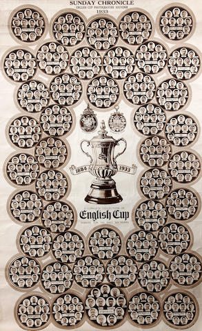 1933 Sunday Chronicle 50 years of F.A. Cup photogravure