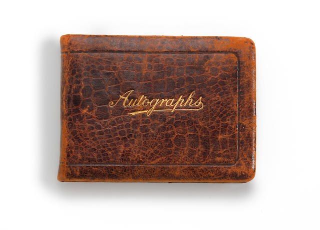 1920's football teams autograph book