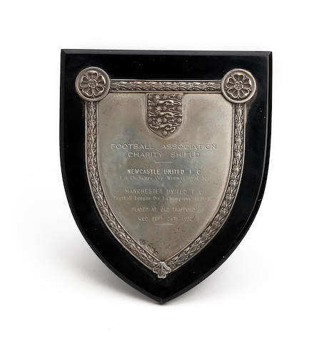 1952 Newcastle v Manchester United Charity Shield plaque