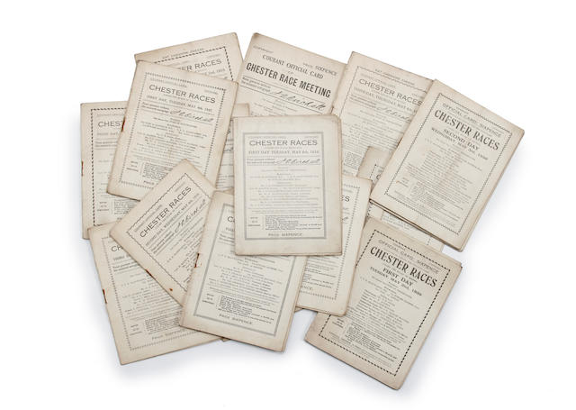 A collection of 1920's to 1950's various racecourse racecards