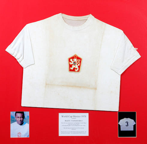 1970 Pele and Mijas match worn shirts