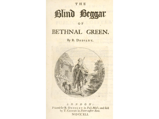 PLAYS DODSLEY (ROBERT)  The Blind Beggar of Bethnal Green, 1741; and 33 other plays, together in 5 vol. (5)