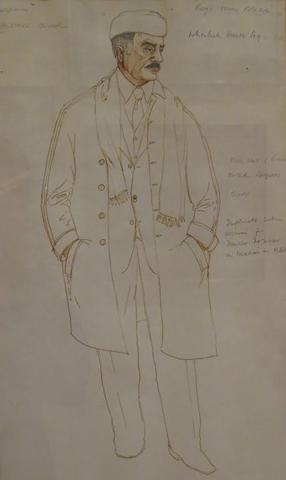 A pair of sketches of costumes worn by Laurence Olivier2