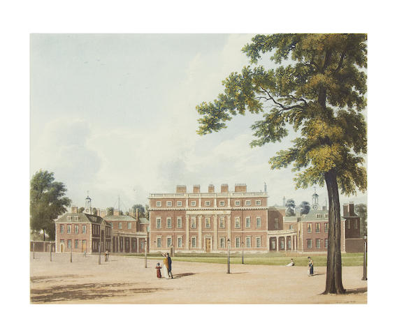 PYNE (WILLIAM HENRY) The History of the Royal Residences of Windsor Castle, St. James's Palace, Carlton House, Kensington Palace, Hampton Court, Buckingham House, and Frogmore, 3 vol., 1819