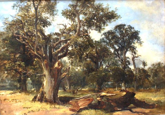 Alexander Fraser Jnr RSA RSW (British, circa 1828-1899) Cadzow Forest