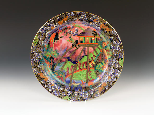 A magnificent Wedgwood Fairyland Lustre charger by Daisy Makeig-Jones, circa 1925