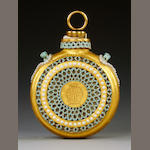 A Royal Worcester reticulated scent bottle by George Owen, circa 1880-1890