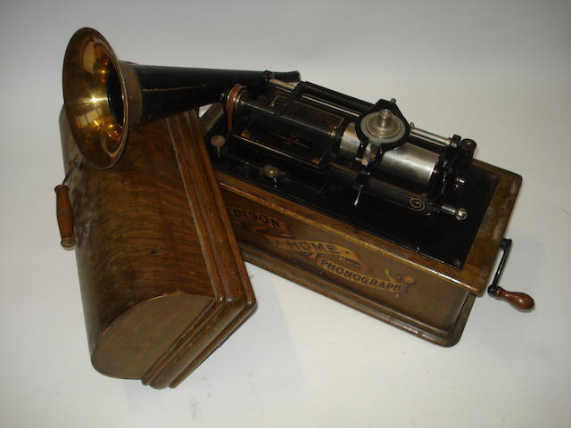 An Edison Home phonograph,