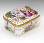 A Birmingham or South Staffordshire snuff box, circa 1765-70