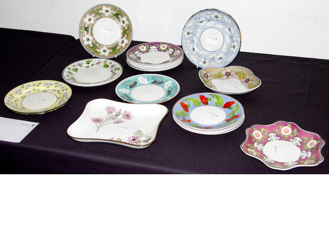 A group of Wedgwood and similar pearlware plates, circa 1820-30