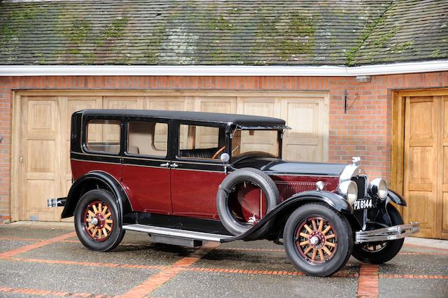 1928 McLaughlin-Buick Model 28.50C Master Six Sedan  Chassis no. 140873 Engine no. 2055727