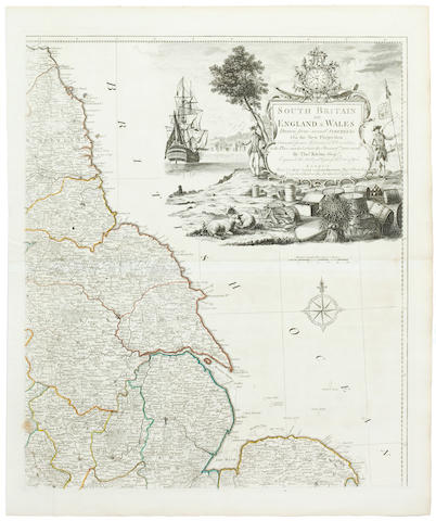 ENGLAND AND WALES KITCHIN (THOMAS) South Britain or England & Wales. Drawn from the Several Surveys & on the New Projection, 1777