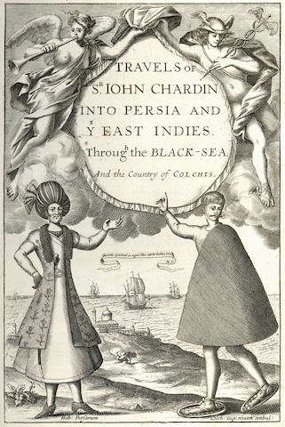 CHARDIN (JOHN) The Travels... into Persia and the East-Indies, vol. one (all published), FIRST EDITION, 1686
