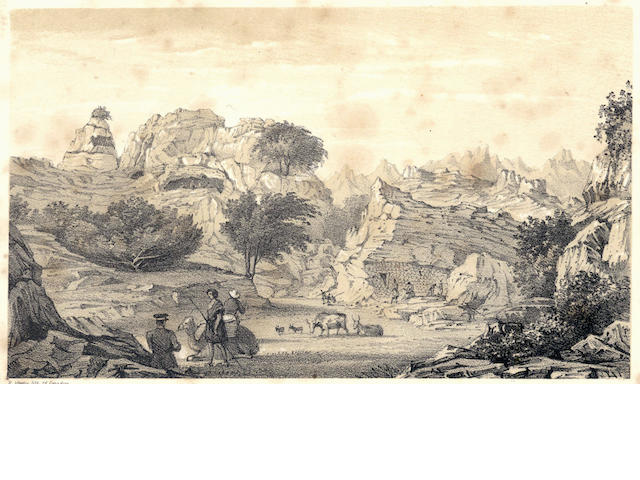 WELLSTED (JAMES RAYMOND) Travels to the City of the Caliphs, Along the Shores of the Persian Gulf and the Mediterranean. Including a Voyage to the Coast of Arabia, and a Tour on the Island of Socotra, 2 vol., FIRST EDITION, 1840