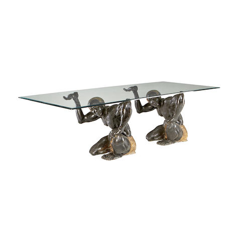 An Italian bronze centre table