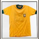 A Pele match worn Brazil shirt