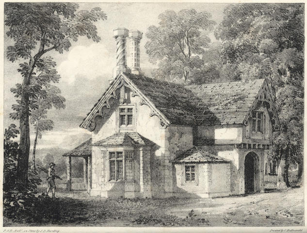 ROBINSON (PETER FREDERICK) Rural Architecture, or a Series of Designs for Ornamental Cottages, 1823; Fox (Mary) The country House, 1843 (2)
