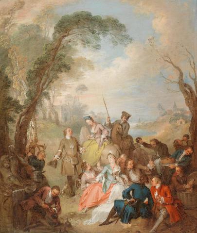 Jean-Baptiste Pater (Valenciennes 1695-1736 Paris) Halte de Chasse