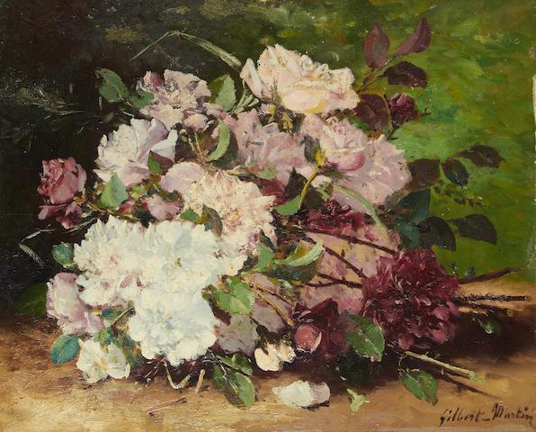 Charles Gilbert-Martin (French, 1839-1905) Still life of flowers