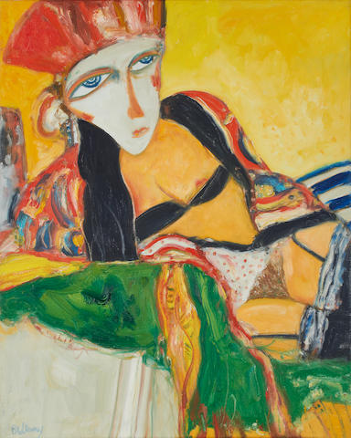 John Bellany CBE RA HRSA LLD(Lon) (British, born 1942) Female reclining nude unframed