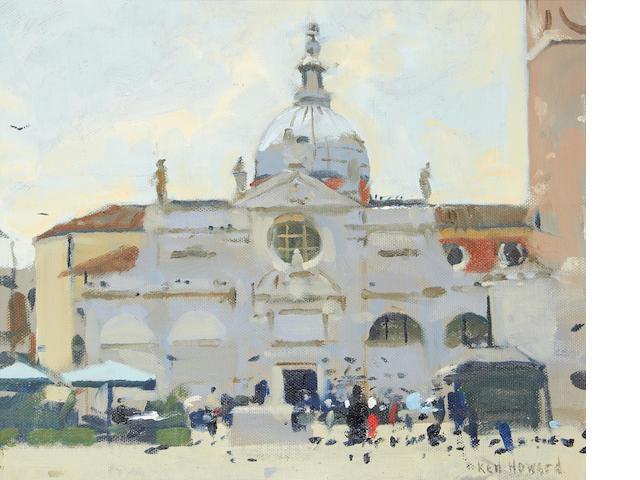 Ken Howard R.A. (British, born 1932) Venetian scene