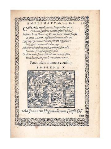 REUSER (NICOLAUS) Emblemata... 1581