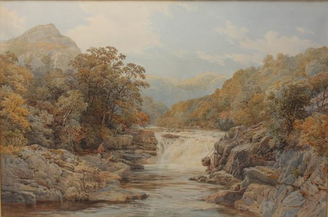 Nathaniel Everett Green (British, 1823-1899) Falls of Lake Tummel, Perthshire