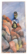 Gladys Mgudlandlu (South African, 1917-1979) Girl on mountain, 1963 unframed