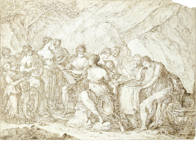 Italian School, 19th Century A Banquet of the Gods