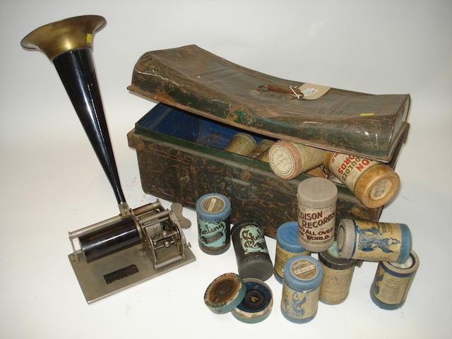 A Paillard openwork phonograph,