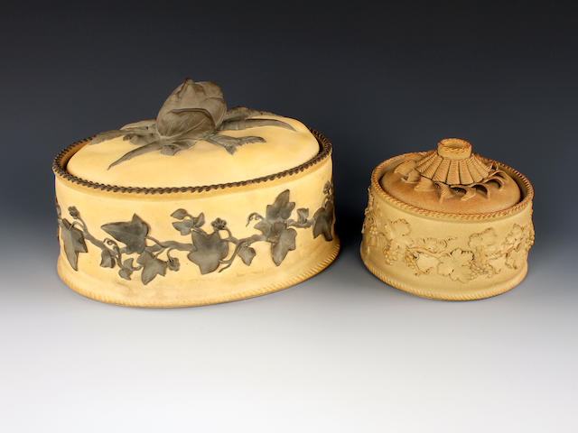 Two Wedgwood caneware tureens and covers, 19th century
