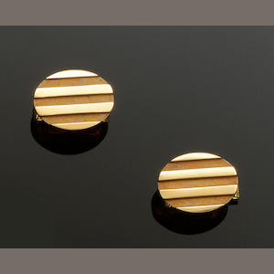 Tiffany & Co: A pair of cufflinks