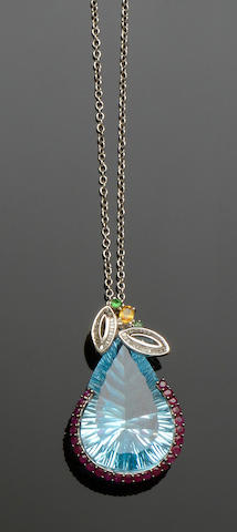 A vari gem-set pendant