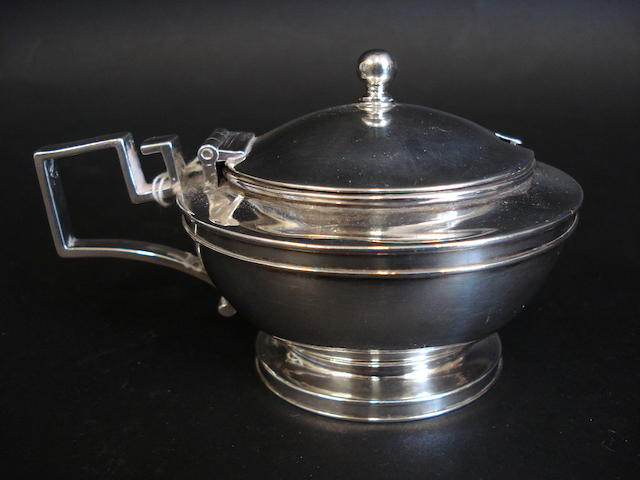 A George III silver mustard pot by John Emes, London 1807